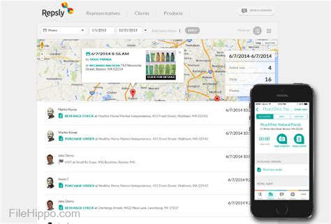 filehippo mobile launch repsly mobile crm filehippo