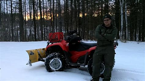 honda rancher snow plow honda rancher 420 snow plowing thoughts