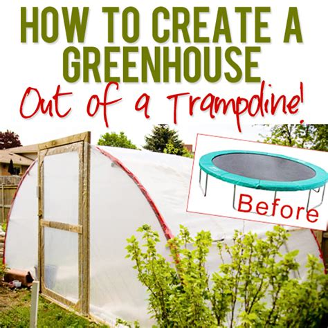 how to make a green house turn a troline into a greenhouse