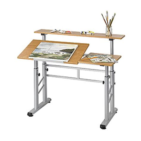 Adjustable Height Drafting Table with Adjustable Height Split Level Drafting Table
