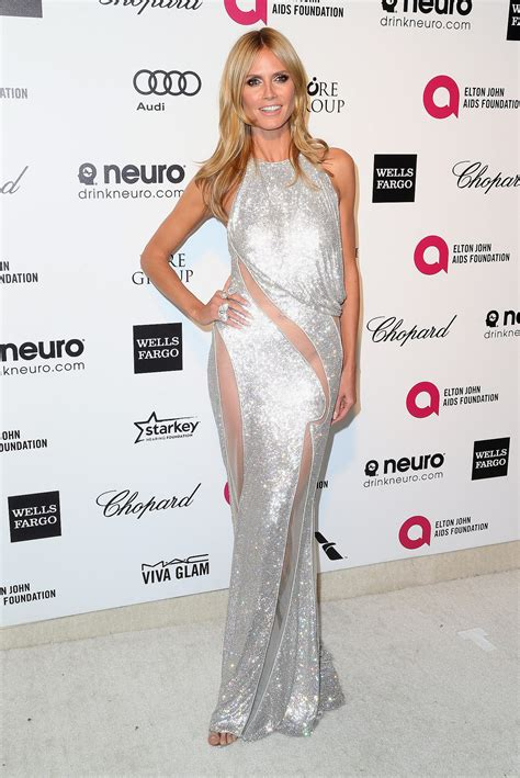 Dress Heidy heidi klum dress at oscars afterparty 2015 popsugar fashion