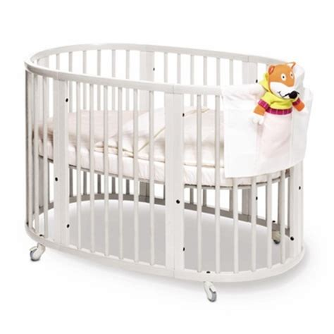 Stokke Oval Crib by Stokke Sleepi Crib In White With Mattress Free Shipping