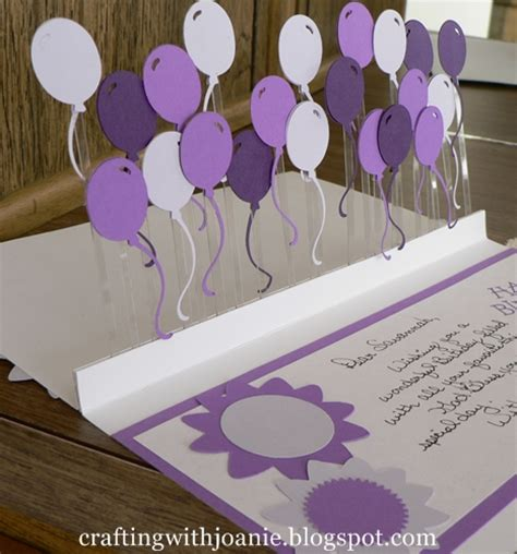How To Make Handmade Pop Up Birthday Cards - crafting with joanie how to make a pop up balloon card