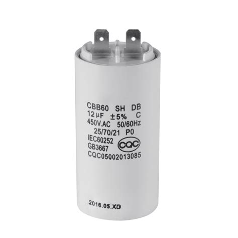 run capacitor small white plastic shell 12uf 50 60hz 450v ac cbb60 motor running capacitor hs839 ebay