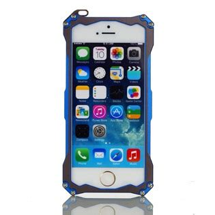 Jual Tempered Glass Iphone 5 Warna r just gundam style aluminium metal with tempered glass for iphone 5 blue