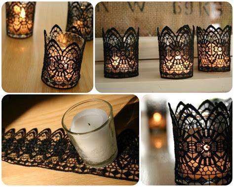 diy black lace candles diy crafts craft ideas easy crafts