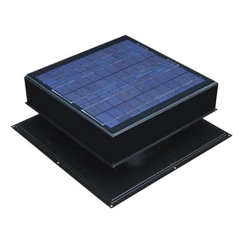 solar powered roof fan active ventilation 365 cfm black powder coated 5 watt
