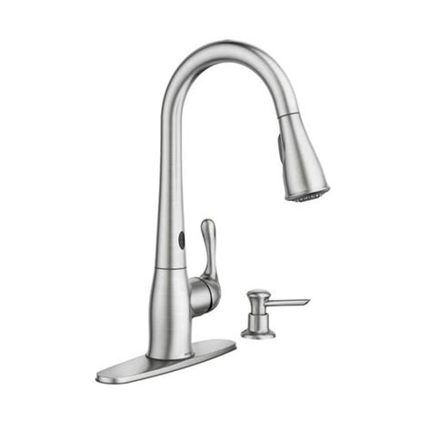 moen motionsense kitchen faucet moen ridgedale single handle kitchen pulldown faucet featuring motionsense at menards 174