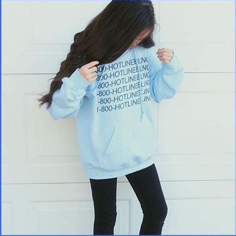 Sweater Wanita Korea I Am Sad Top Blue sweater hotline bling hotline bling sweater grunge