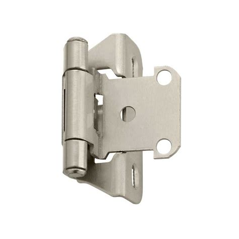 kitchen cabinet hinges types amerock partial wrap 1 4 quot overlay satin nickel sold per