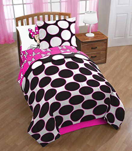 minnie mouse twin bed in a bag disney minnie mouse dots are the new black 5 piece twin