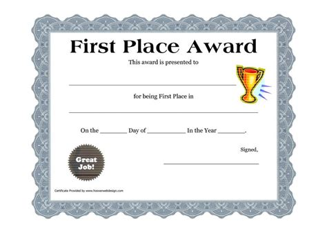 A Place Free Customizable Printable Certificates Place Award Printable Certificate Pdf Family