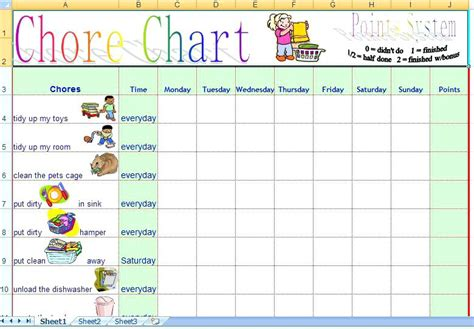 chore calendar template chore calendar template chore chart chore chore chart