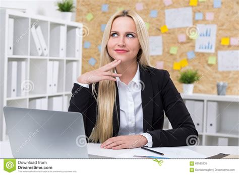 Slys Office by Businesswoman At Work Stock Photo Image 69585235