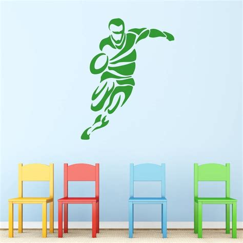 rugby wall stickers tribal rugby wall sticker by mirrorin notonthehighstreet