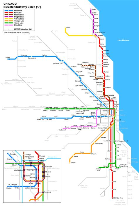 chicago map subway chicago subway maps geography images