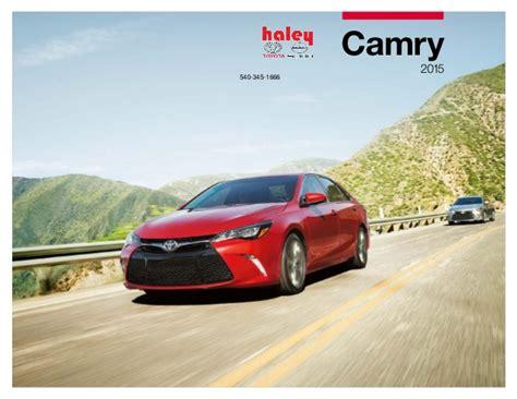 Toyota Camry Brochure 2015 Toyota Camry Brochure Toyota Roanoke