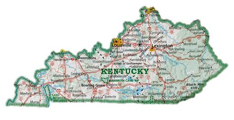 kentucky map counties and cities maps kentucky map with cities
