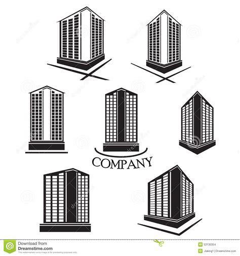 design art build co set of company building vector logo and icon stock vector