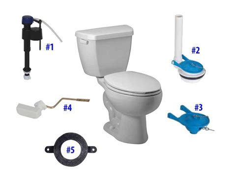 Briggs Plumbing Parts by Briggs M128 Toilet Replacement Parts