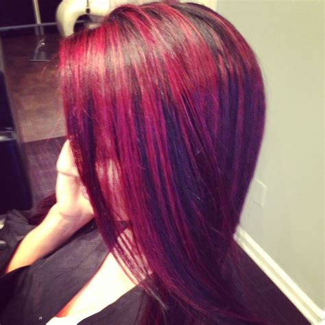 hairstyles with blonde and purple highlights pink purple and blonde hair red hair color with purple
