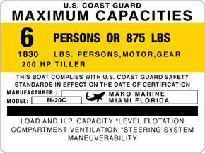 mako boats stickers boat capacity sticker replicas garzonstudio