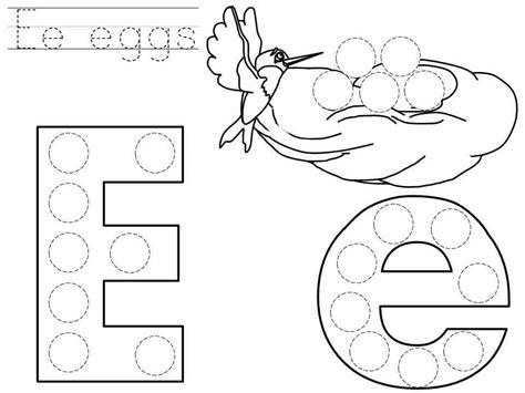printable dot to do do a dot letter e printable 171 funnycrafts