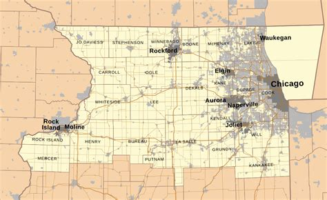 map of cities only file map of northern illinois svg wikimedia commons
