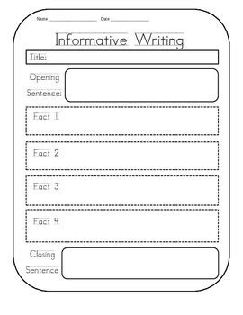 printable graphic organizer for informational writing informational writing graphic organizer by first grade