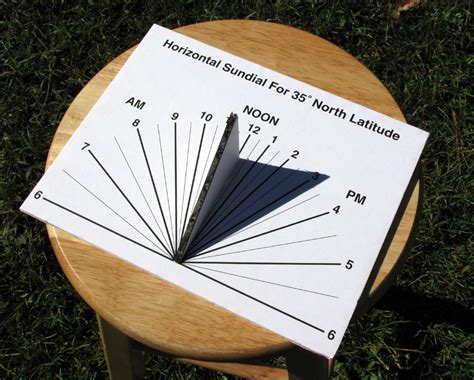 How To Make A Sundial With A Paper Plate - how to build a horizontal sundial hack a week