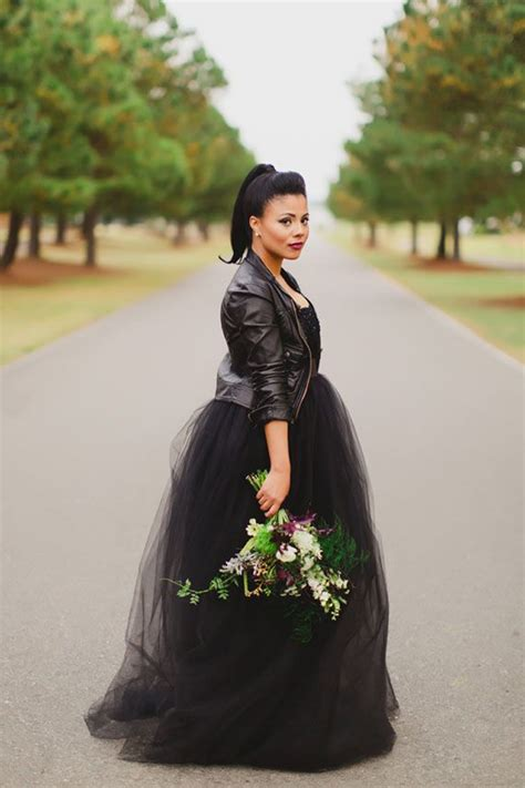 White Rock Wedding Dresses by Twelve30 Creative How To Rock A Black Wedding Dress