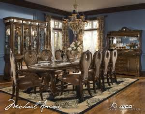 Aico Dining Room Sets Michael Amini The Sovereign Traditional Rectangular Dining