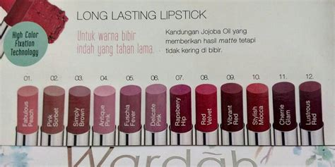 Warna Lipstik Wardah Matte Favorit lipstik matte wardah warna the of