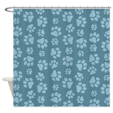 paw print shower curtain pet paw prints shower curtain by mytreat