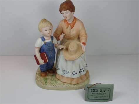 home interior denim days figurines vintage figurine homco denim days danny s mom figurine