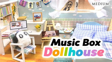 cute doll houses diy undertale toy dollhouse cute miniature room with music box and lights youtube