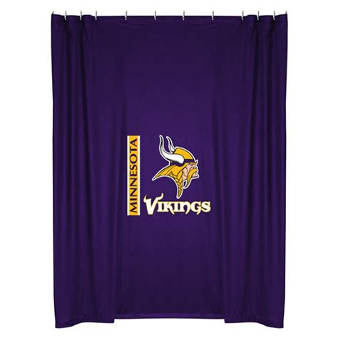 Football Bathroom Accessories Nfl Minnesota Vikings Shower Curtain Football Bathroom Accessories