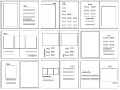 magazine layout excel grid graphic design layout template graphic design