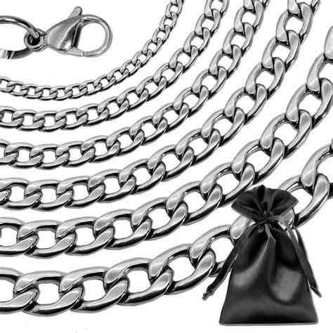 cadena de oro negro para hombre collar cadena pulsera hombre mujer cadena de acero inoxid