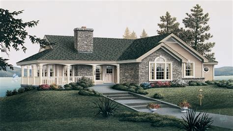 one level house plans with porch country cottage house plans with porches cottage house