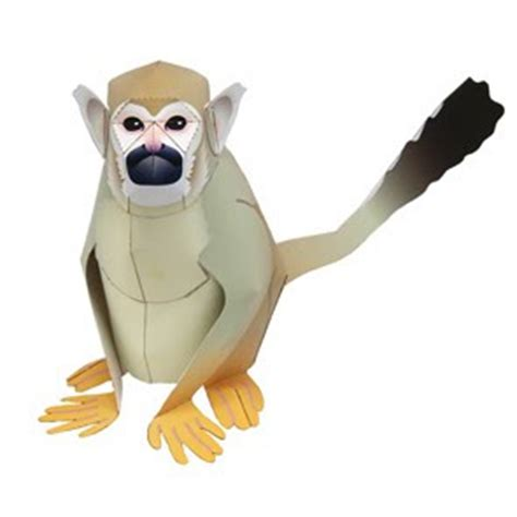 squirrel monkey papercraft papercraft paradise