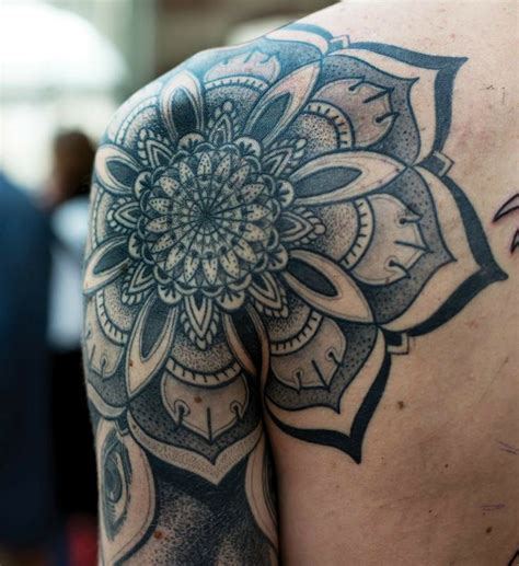 mandala tattoo white on pinterest shoulder tattoo rose shoulder tattoos and