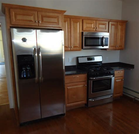 kitchen refrigerator cabinets file newly renovated kitchen with cabinets refrigerator
