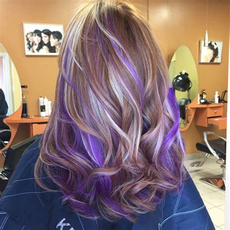 hairstyles with blonde and purple highlights 316 best chromasilk vivids images on pinterest hair