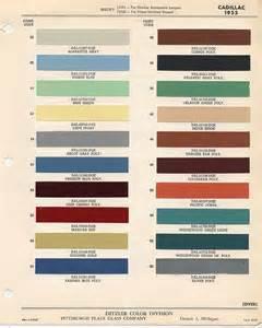 Cadillac Color Chart Cadillac Paint Chips