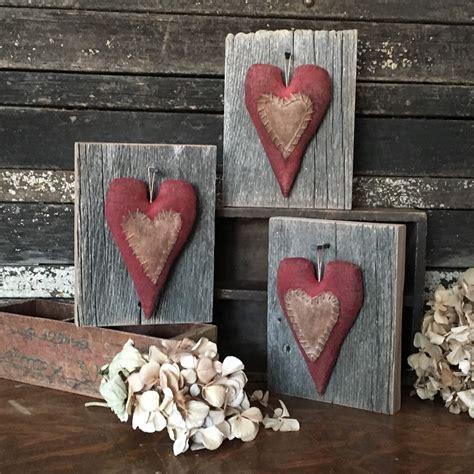 primitive valentines primitive barn wood folk by