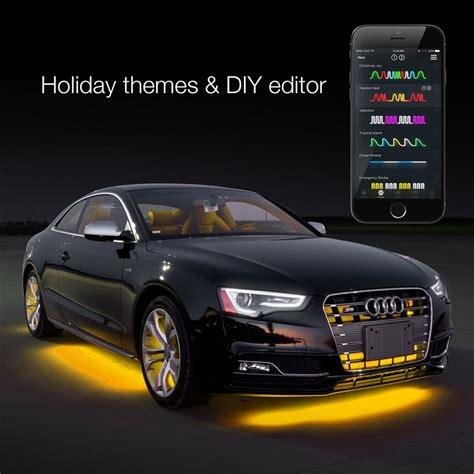 automotive led accent lights 6pc 10 quot flexible strip car interior grill xkchrome app