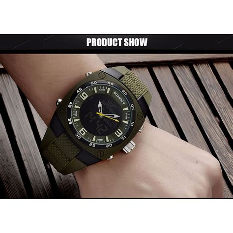 Jam Tangan Pria Jam Digital boamigo jam tangan analog digital pria f 602 army