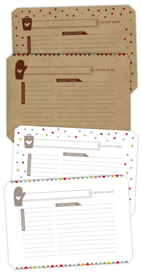 printable recipe note cards recipe card download free printables and fonts
