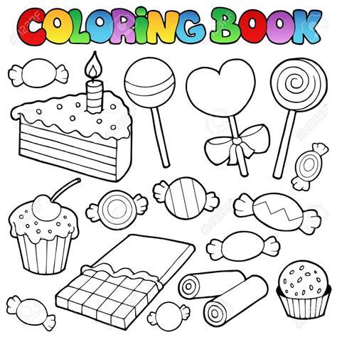 Coloriage Bonbons Et Sucreries Sucettes Dessincoloriage Dessin De BonbonL